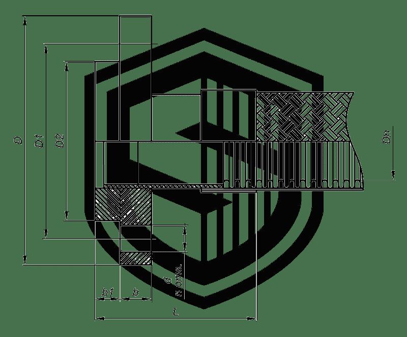 Металлорукав с фланцами Ф22 (ГОСТ 12822-80)