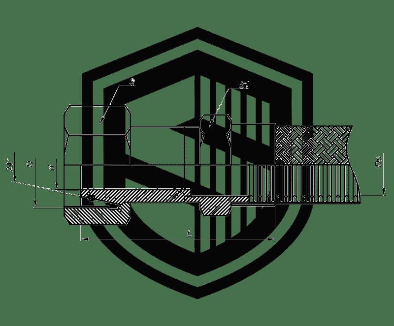 Металлорукав с гайкой DKOL (немецкий стандарт, облегченная серия)