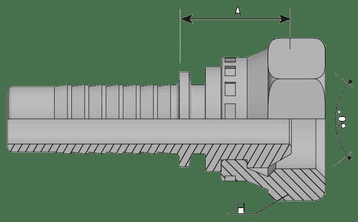 Фитинг BSP: английский трубный стандарт, прямой с кримпованной гайкой