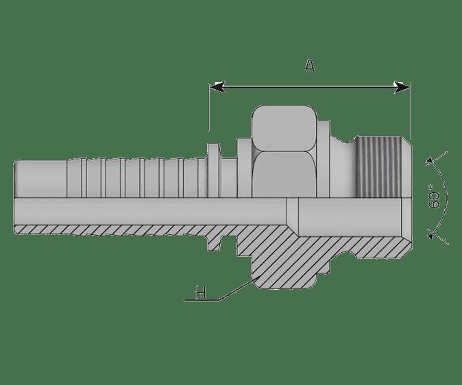 Фитинг BSP: английский трубный стандарт, прямой штуцер