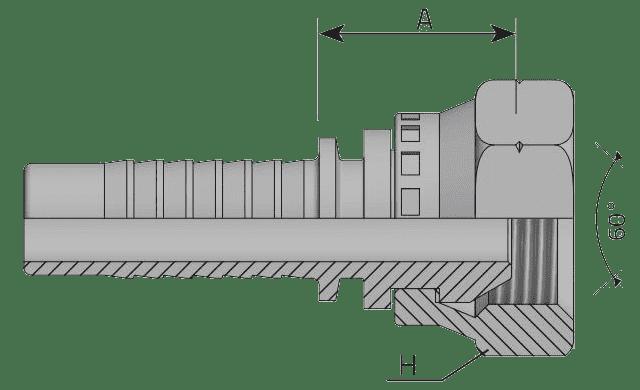 Фитинг DK: российский стандарт, прямой с кримпованной гайкой