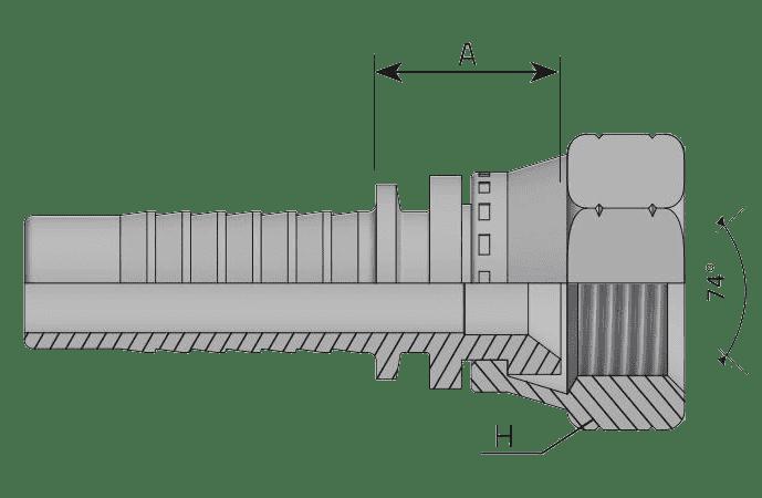 Фитинг JIC: американский стандарт, прямой с кримпованной гайкой