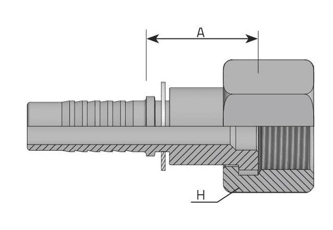 Фитинг ORFS: американский стандарт, прямой с накидной гайкой