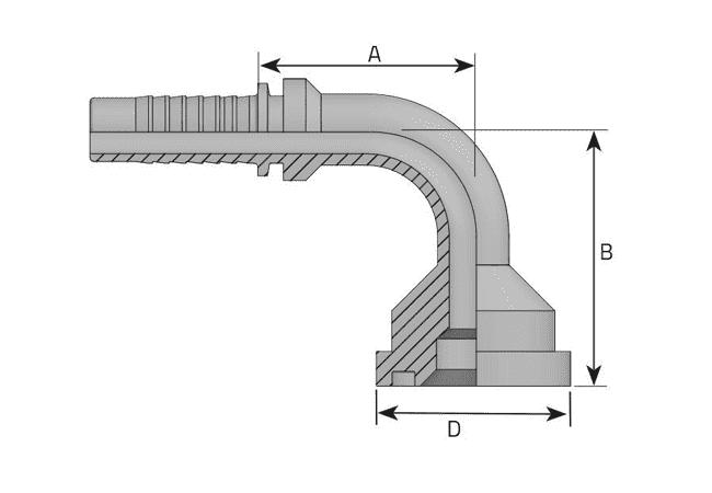 Фитинг SF-L: американский стандарт, облегченная серия, 90°