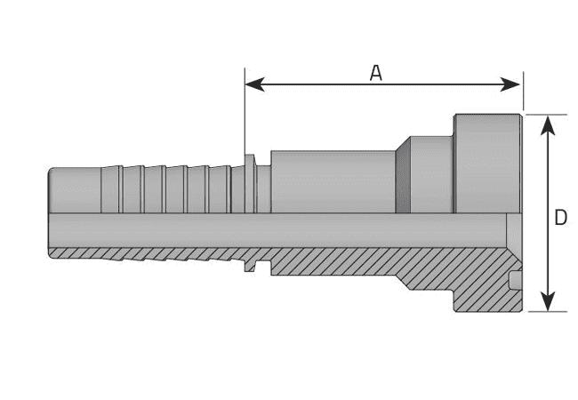 Фитинг SF-CAT: американский стандарт, серия SUPERCAT, прямой