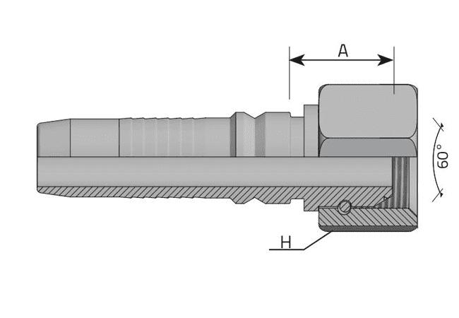 Фитинг INTERLOCK BSP: английский трубный стандарт, прямой
