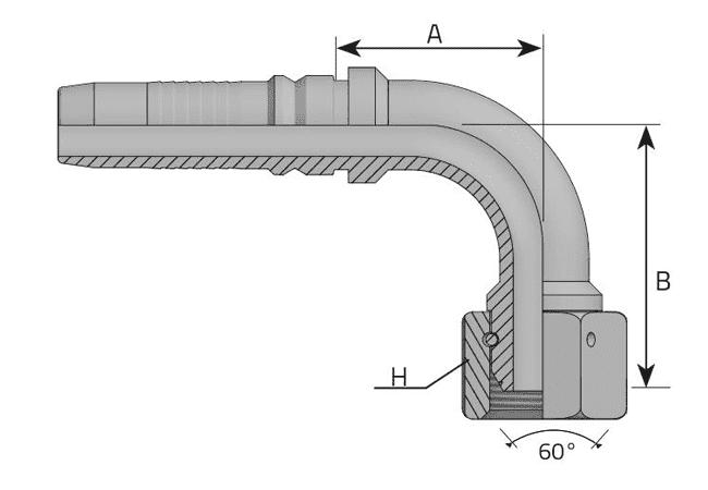 Фитинг INTERLOCK BSP: английский трубный стандарт, 90°