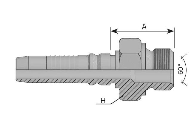 Фитинг INTERLOCK BSP: английский трубный стандарт, прямой штуцер