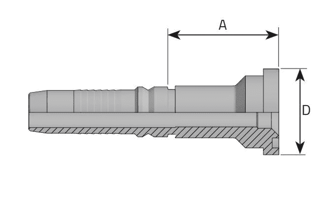 Фитинг INTERLOCK SF-S: американский стандарт, усиленная серия, прямой