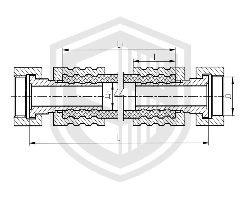 Соединения рукавные амортизирующие штуцерные ОСТ 5Р.5445-80