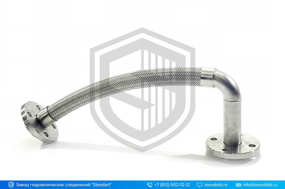 Металлорукав (МРВД) с отводом и фланцами