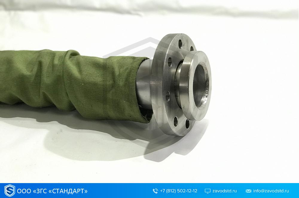 металлорукав с фланцами брезентовая защита