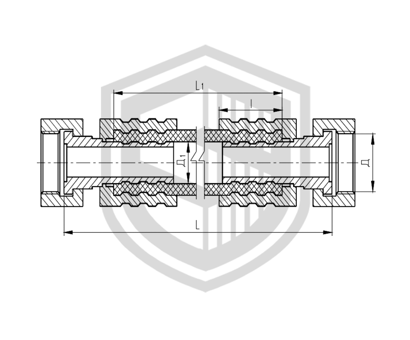 Соединение рукавное амортизирующее штуцерное ОСТ 5Р.5445-80
