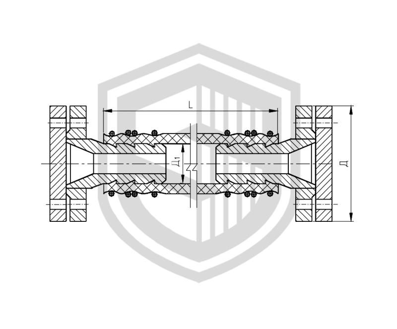 Соединение рукавное для приема и выдачи жидких и газообразных сред  фланцевое ОСТ 5Р.5444-80