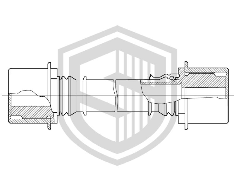 Фторопластовые рукава с двумя промежуточными штуцерными соединениями