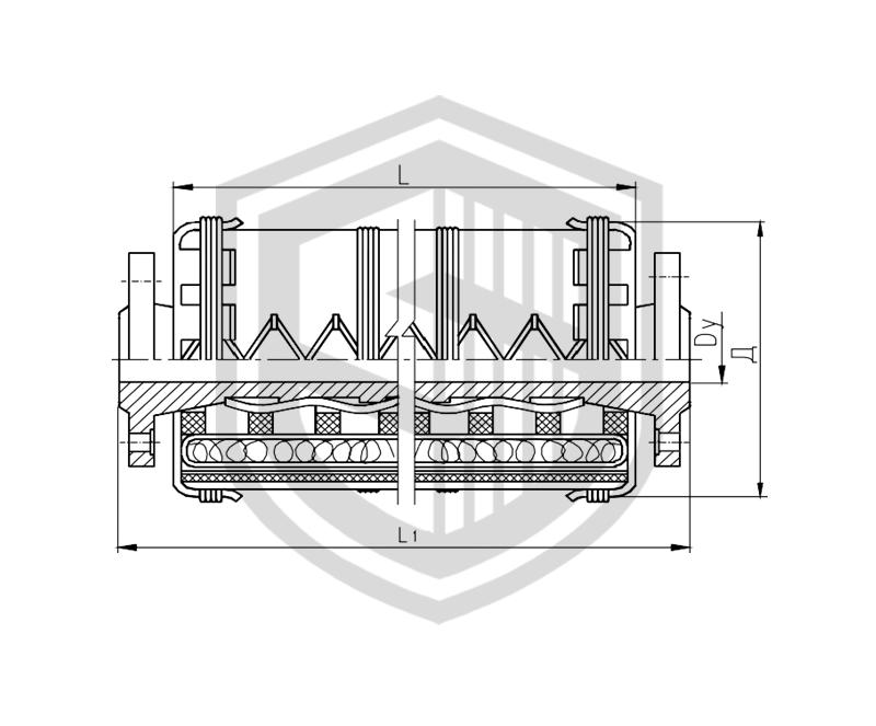 Соединение рукавное фланцевое с огнезащитной изоляцией  Dу 40…65